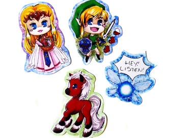 Legend of Zelda Stickers // Zelda // Link // Epona // Navi // <3