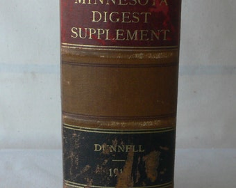 antique law book, Minnesota Digest Supplement 1916, from Diz Has Neat Stuff