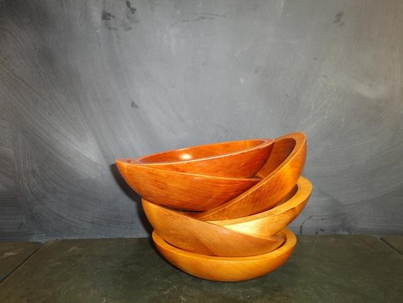 Reserved for monica vintage wooden baribocraft salad bowls set
