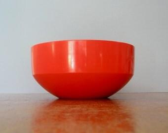 Vintage Danish Modern Rosti Red Plastic Bowl - Soren Andersen