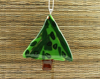 Art Glass Christmas Tree Ornament- 100% Proceeds Donated & Free Shipping