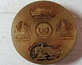 Mid Century Souvenir Compact, Scotland Compact, Mirror Compact, Powder Compact, Handheld Mirror, Souvenir Collectible