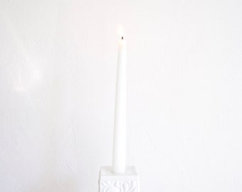 Mid Century Glazed White Porcelain Candle Holder by Hutschenreuther West Germany