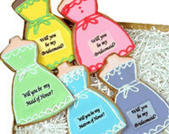 Will you be my Bridesmaid, Maid/Matron of Honor  Dress Cookie