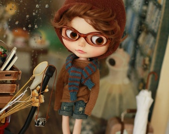 Miss yo 2015 Summer & Autumn - Casual Style Sweater for Blythe doll - dress / outfit - Brown