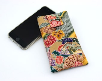 iPhone 6 sleeve, Mobile Phone Cover,fabric iPod cover,handmade iphone case, Sensu Ocher