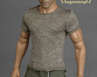 1/6th scale T-shirt for: action figures and male fashion dolls