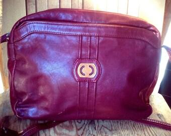COURT   ///   Oxblood Shoulder Bag