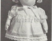 12 inch Felt Rag Toddler Baby Doll Sewing Pattern including pattern for dress, teddy, bonnet shoes and socks