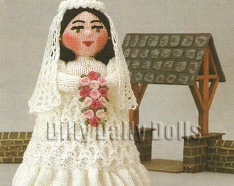 Anne Carol Creations Woolly Wotnots No 37 THE BRIDE Toy Doll Ornament Knitting pattern