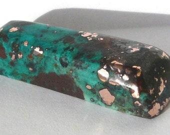 Rare chrysocolla, native copper, cuprite cabochon 78 carats Very coloful