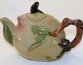Vintage Oriental Monkey Teapot