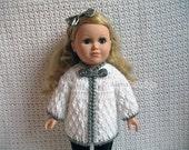 Crochet Pattern 125 - Crochet Jacket Pattern for 18 in Doll - Crochet Patterns - Diamond Doll Jacket for American Girl - 18 in Dolls Outfit