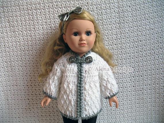 Crochet Pattern Mickey Mouse Doll : Crochet Pattern 125 Crochet Jacket Pattern for 18 in Doll
