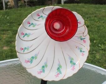 Garden Flower / Garden Art in Red, White and Green