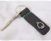 Claddagh Keychain, Heart Claddagh Keychain, Friendship Key-Ring, Engagement Leather Key-Chain, Irish Key-Chain, Love Celtic Leather Key Ring