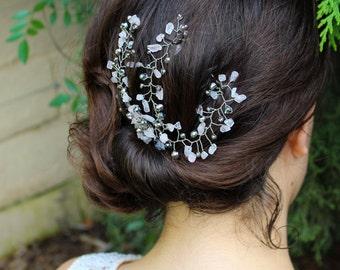 Crystal Hair Piece, Crystal Hair Vine, Wedding Hair Clip, Hair Jewelry, Hair Spray Comb, Headpiece, Wedding Hair Comb, Rhinestone Hair Pin