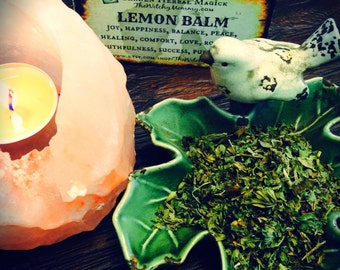 LEMON BALM HERB Dried, Loose Herb, Witches Apothecary
