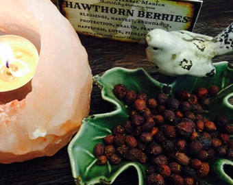 HAWTHORN BERRIES Dried, Loose Herb, Witches Apothecary