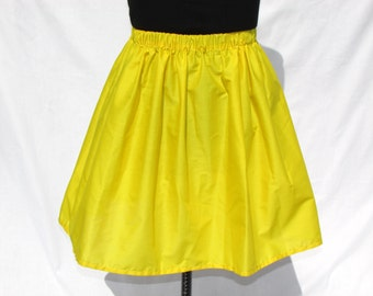 Yellow Knee Length Skirt