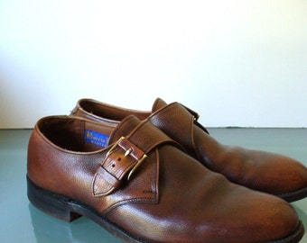 Vintage Barrie Booters Monk Strap Shoes Size 8.5 B/D