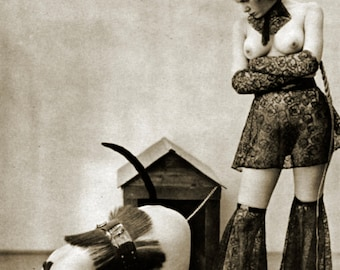 MATURE... In The Doghouse... Instant Digital Download... Vintage Erotic Photography... Vintage Nude Photo
