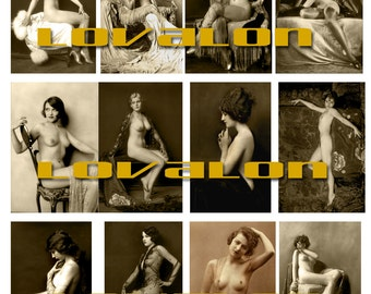 MATURE... Glamour Girls... Instant Digital Download Image Collection... Vintage Erotic Photography... Vintage Nude Photo