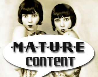 MATURE... Sex Slave Angels... Deluxe Erotic Art Print... 1930's Vintage Nude Fetish Photo... Available In Various Sizes