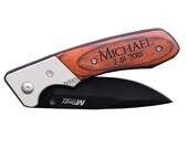 Personalized Knife, Pocket Knife, Wood Knife, Mens Personalized, Engraved Knife, Custom Knife, Gifts for Him, Groomsmen gifts, Wedding Party