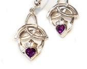 Trinity Knot Claddagh Earrings
