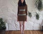 1960s Knit Mini Dress