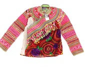 Embroidered Hmong Vintage Jacket Hill Tribe Clothing Collection Textile  (AP6926.3)