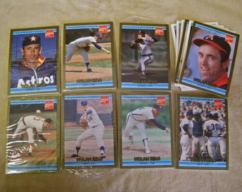 Baseball Cards Coca Cola 90s Trading Cards Sports Collectible NOLAN RYAN Astros Mets Angels Donruss Sealed Wrapped Sets plus 8 Loose Cards
