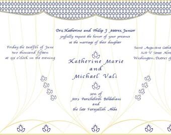Save date arabian etsy arabian nights persian wedding invitation purple yellow suite filmwisefo
