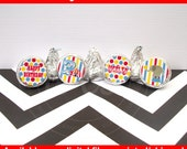 Circus Chocolate Kiss Stickers - Carnival Stickers - Circus Candy Stickers - DIGITAL and PRINTED