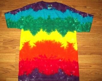 S M L Xl 2x 3x 4x 5x 6x Tie Dye Shirt, Kids, Adult, Plus size tie dye, Rainbow Layers Tie Dye Shirt