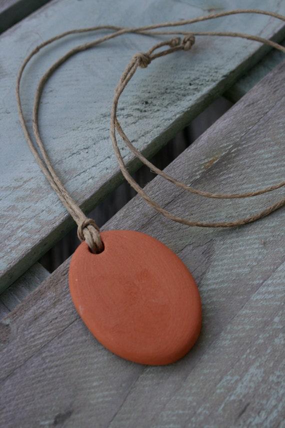 Terracotta Neck Pendant Diffuser ~ Customized diffuser pendant clay terra cotta