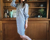 Sailor 60's does 20's Cotton Shift Dress / Tres Gay