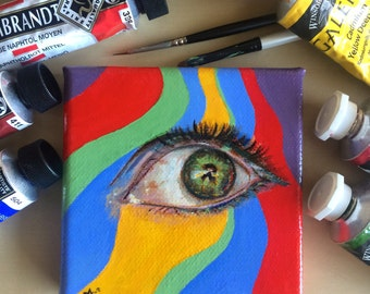 Eye Study original mini painting