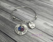 Stamped Jewelry Personalized Jewelry - Grey's Anatomy-Inspired Bangle Bracelet, You're My Person, Great Gift for Best Friends