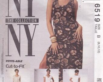 T-Shirt Dress & Sleeveless Dress Pattern McCalls 6519 Size 8