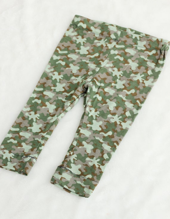 baby green camo leggings baby clothing green leggings