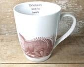Dinosaur Twerk Mug, Tea Cup, Dinos love to Twerk,  Twerking, Paleo Twerk Tea Cup, 16 oz Twerkasaurus Coffee Mug, Porcelain, Ready to Ship