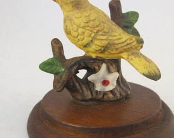 Vintage 60's yellow bird figurine Taiwan