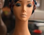 Pre Made  AFRICAN PRINT ANKARA turban hat - Handmade Perfectly Pre Sewn African Print Turban Ankara Cap head wrap gele cap - Pret-a-Porter