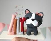 FRENCH BULLDOG room decor - Nursery decoration, personalized baby gift, custom nursery, BOSTON terrier
