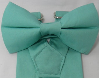 SPA Suspenders and SPA Bow Tie Set. Bridal Color Spa. Turquoise. Sizes Infant - Adult. Free Shipping Offer. Free Custom Fitting Available