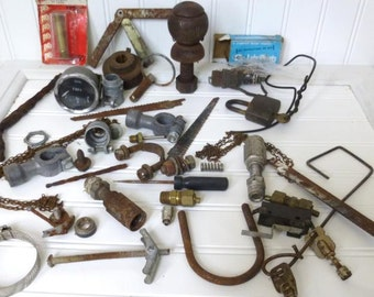 40 Pieces of Assorted Metal Objects and Parts