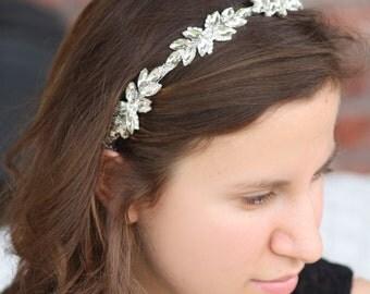 Bridal Headband Crystal Wedding Roman Greek Tiara Hair Accessories Leaves