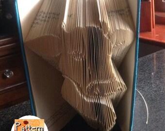 Cow Folded Book Art Pattern